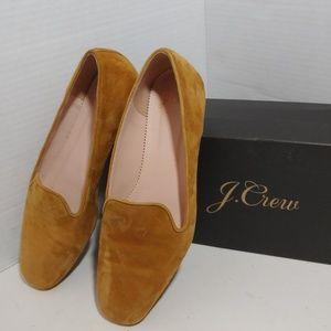 J Crew suede smoking loafer